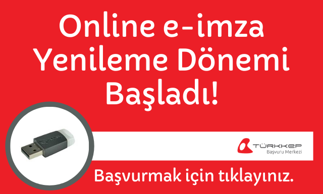 Online e-imza yenileme